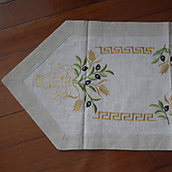 Beige Linen Rectangular Table Runners