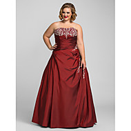 TS Couture Prom / Formal Evening / Quinceanera / Sweet 16 Dress - Burgundy Plus Sizes / Petite Ball Gown / A-line / Princess Strapless Floor-length
