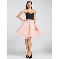 Homecoming Homecoming/Cocktail Party/Wedding Party Dress Plus Sizes A-line Sweetheart Knee-length Chiffon