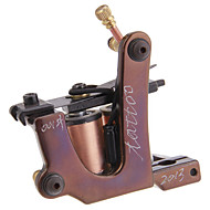 Nieuwe collectie handgemaakte tattoo machine 10 wrap coils Tattoo Gun liner en shader