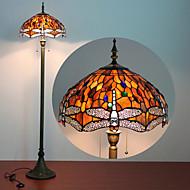 Fjärilar Dekoration Golvlampa, 2 ljus, Tiffany Resin glasmålning Process