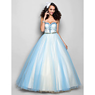 Prom/Formal Evening Dress - Sky Blue Plus Sizes A-line Sweetheart Floor-length Tulle