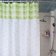 """וילון מקלחת בסגנון כפרי אור הירוק X W78 L71 """""""