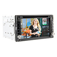 6.2inch universelle 2 DIN in-dash bil dvd-afspiller med gps, bt, ipod, tv, rds, touch screen