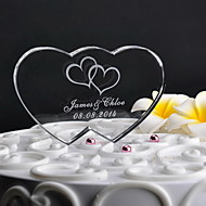 Kuchendeckel personalisierten Doppel-Herz-Kuchendeckel (mehr Designs)