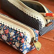 polka dot bloempatroon pen case