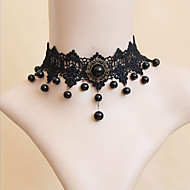 Dark Queen Handmade Black Lace Classic Lolita Necklace
