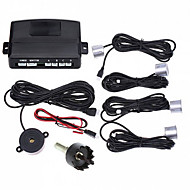 Car Parking Reverse Backup Radar Sound Alert with 4 Sensors (Black,Silver)