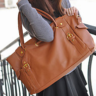 New Korean Style Lady Synthetic Leather Handbag Shoulder Bag 4Colors