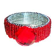 Noces de diamant anneau de serviette, cristal, perles en verre Dia 4.5cm, ensemble de 12