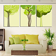 Canvastaulu taide kasvit Slim Tree Set of 3
