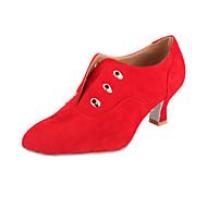 camurça modernos sapatos prática de salão das mulheres (mais cores)
