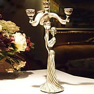 """15 """"מחזיק אשת פמוט Polyresin נרות יפה H הסגנון עתיק"""