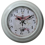 "12.75""H Country Dragonfly Metal Wall Clock"