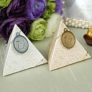 피라미드 결혼식 호의 상자 - 12 개 세트 (색상 선택)