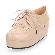Women's Platform Heel Creepers Oxfords Shoes With Ruffles (More Colors)