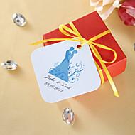 persoonlijk voorstander tags - bruid en bruidegom (set van 36)