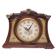 "9 ""H Country Style Resina Tabletop Relógio"