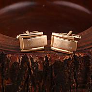 Gift Groomsman Personalized Gold Cufflinks
