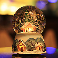 Schneien Kugel City of Sky Kristall Music Box