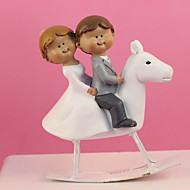 """Cake Toppers """"Couple on Merry-go-round""""  Cake Topper"""