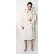 Roupão de banho, 100% algodão Homem Branco Sólido Cor Curto Garment Engrosse