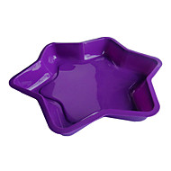 Star Shape Cake Baking Pans, Silicone(Color Randoms)