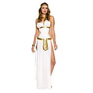 Greek Goddess White Satin Women's Carnival Costume