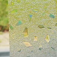 Modern Fancy Flocking Stones Pattern Window Film