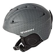 MOON® Casque Femme Homme Unisexe Snow Sport Helmet Demi-coquille Casque Sport  Gris Casque Sport d'Hiver ABSSports de neige Sports