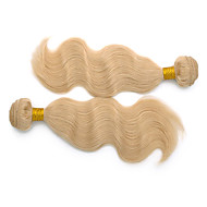 24inch 3Pcs Indian Remy Body Wave Hair Bleach Blonde Hair Weft