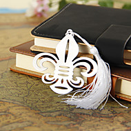 Silver Flower-de-luce Bookmark with Tassel
