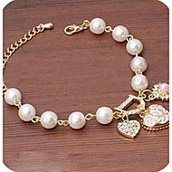 Alltag / Normal-Ketten- & Glieder-Armbänder(Aleación / Künstliche Perle / Strass)