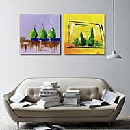 Canvastaulu taide Asetelmat Vihreä Päärynät Set of 2