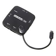 OTG USB 허브 및 Menory 카드 리더 (블랙)