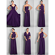 Convertible Dress Floor-length Jersey Sheath/Column Dress (633753)