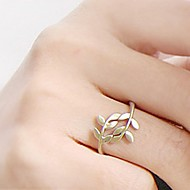 Women's  Lovely Leaf Leaves Pattern Alloy Ring