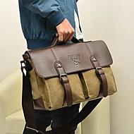 Vintage Men Women Canvas Laptop Briefcase Handbag