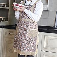 Pastorale style café motif fleur tablier, coton W58cm x L76cm