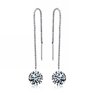 Drop Earrings Women's Sterling Silver Earring Crystal