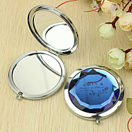 Personlig gave blomstermønster Chrome kompakt spejl