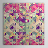Stretched Canvas Art Pop Art Abstract Colorful Retro Hipsters Triangle Ready to Hang