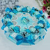 꽃과 나비와 함께 파란색 피라미드 케이크 호의 상자 - 10 개 세트