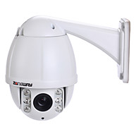 zoneway® 10x optische zoom outdoor 4,5 inch 1.3MP 960p ir ip speed dome camera (50m ir nachtzicht)