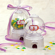 Music Box Shaped Candy Machine/Money Pot with Ribbon