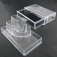 acrílico transparente de armazenamento combinado complexo dupla camada cosméticos com gaveta cosmética organizador
