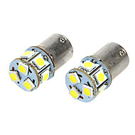 BA15S T18 1.6W 12VDC 110LM luz blanca 9-LED Car Light Bulbs