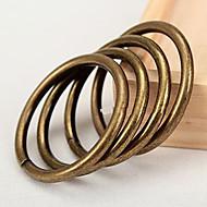 טבעת קליפ וילון מוצק סגנון רטרו - 2pcs (קוטר 3.2cm)