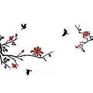ציפורים פרחוניות הבוטניים 3D מדבקות קיר