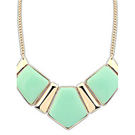 Women's Retro Alloy Rhombic Resin Nceklace